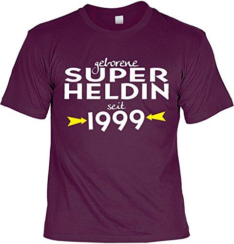 T-Shirt - Geborene Superheldin Seit 1999 - lustiges Sprüche Shirt als Geschenk zum 18. Geburtstag