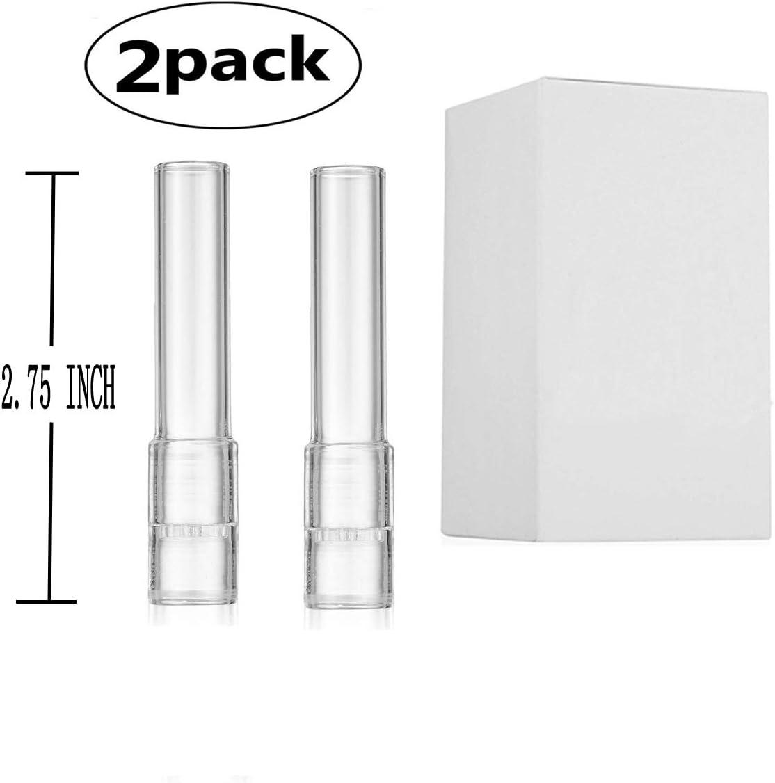 JINNUO Arizer Solo Glass Tube Stem (Recto corto) Tubo en ángulo (paquete de 2) (2 Pack)