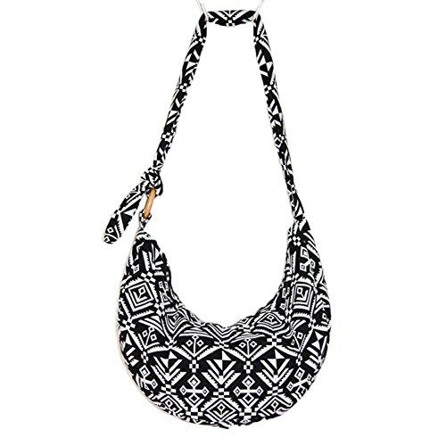 KARRESLY Women's Sling Crossbody Bag Thai Top Handmade Shoulder Bag with Adjustable Strap(19-1177)