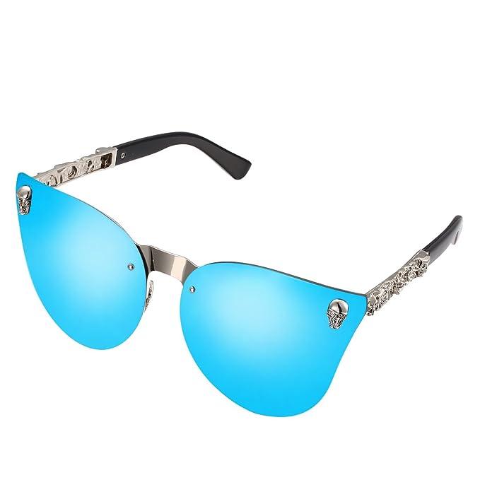 Amazon.com: lomedo espejo Cateye anteojos De Sol De Moda ...
