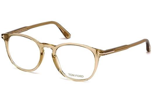 d6b8dc9aae Amazon.com  Tom Ford FT 5401 Transparent Light Brown 49 20 145 Unisex  Eyewear Frame  Watches