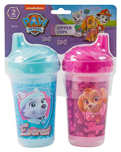 Nickelodeon PAW Patrol Skye and Everest Sippy Cups, Pink, 2 Count