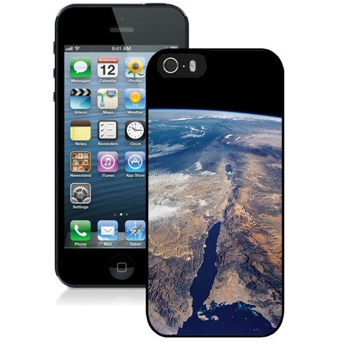Coque,Fashion Coque iphone 5S Earth Space View1 Noir Screen Cover Case Cover Fashion and Hot Sale Design