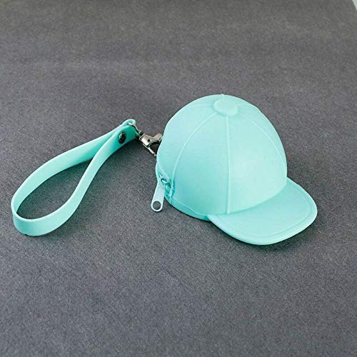 Mini Silicone Hat Coin Purses Key Zipper Wallets Pocket Money Bags Pouch Storage (Color - Light Green)]()