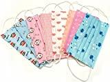 20 Pcs Cute Print Disposable Earloop Face Mask Dust Filter Mouth Cover (Random Color)