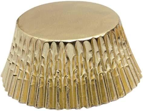 Fox Run Gold Foil Mini Baking Cups, 48-Count