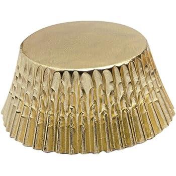 Fox Run 6970 Gold Foil Bake Cups, Mini, 48 Cups