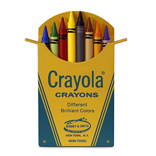 Hallmark Keepsake Christmas Ornament 2018 Year Dated, Crayola Classic Box of 8 Crayons (Crayola Ornament)