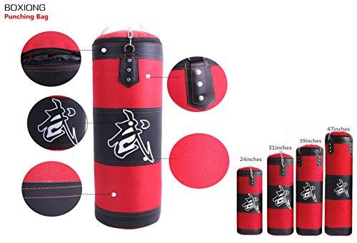 Fansport Punching Bag, Kick Bag Empty Hanging Chain Martial Art Boxing Bag for Training - Kicking Chain