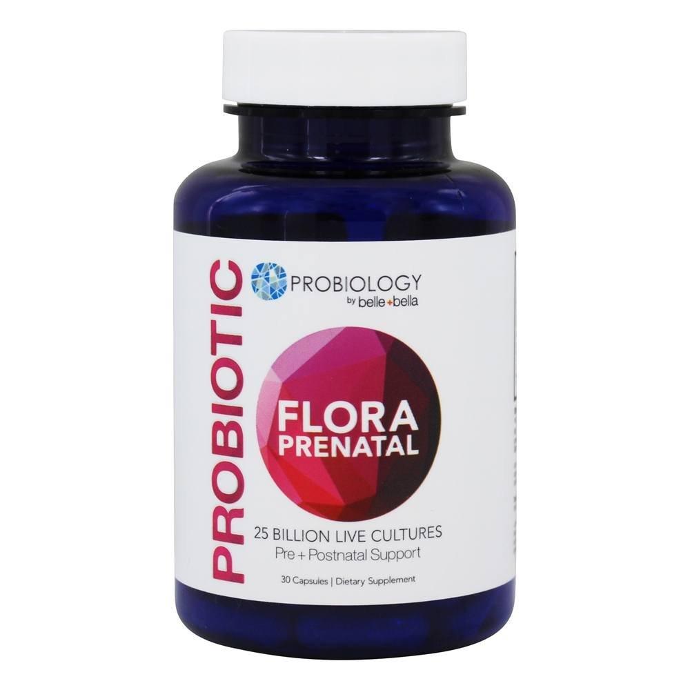 Belle+Bella Probiology Probiotic Flora Fem, 25 Billion Cfu Capsules, 30 Ea, 30 Count by belle+bella