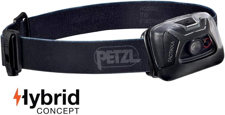 PETZL – TACTIKKA Headlamp, 200 lumens, Ultra-Compact Headlamp