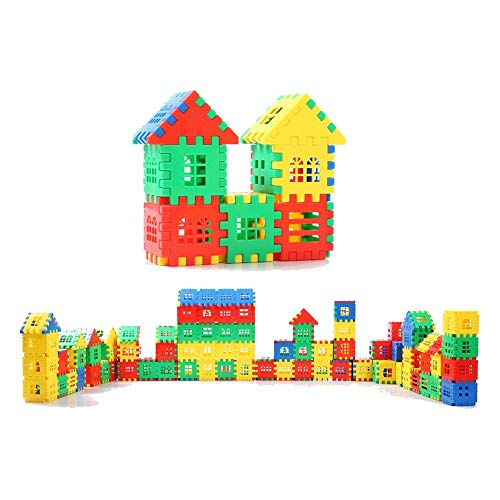 - Wangjia Assembling House Blocks, Large Static Plastic Pieces for Children's Educational Toys, Suitable for Children Aged 3 to 14 ( Size : 260 Tablets )