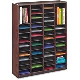 Safco Products 9331MH E-Z Stor Wood Literature Organizer, 60 Compartment, Mahogany