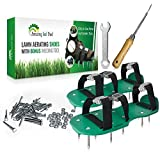 "Premium Lawn Aerator Shoes - Heavy Duty 2"" Spiked Sandals for Aerating Your Lawn or Yard - Revive Your Lawn Roots with Lawn Aerator Shoes - comes with a Weed Pulling Tool"