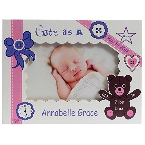 Personalized Baby Picture Frame, Baby Girl Picture Frame,