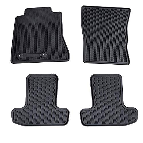 Floor Mats 4XBEAM 2015 2016 Ford Mustang Front & Rear Liners Black Heavy Duty All Weather Guard