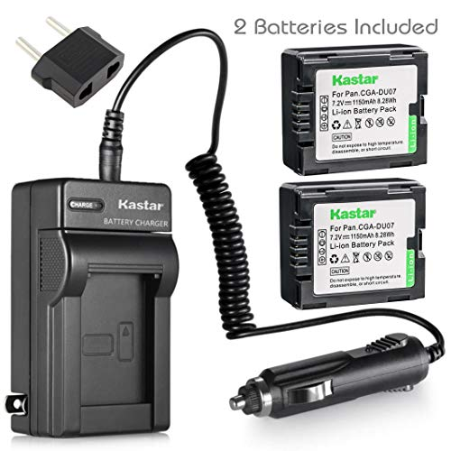Gs500 Camcorder - Kastar Battery (2-Pack) and Charger for Panasonic CGA-DU06 CGA-DU07 CGA-DU14 CGA-DU21 VW-VBD070 VBD140 VBD210 and PV-GS31 PV-GS33PV-GS34 PV-GS35 PV-GS39 PV-GS400 PV-GS500 PV-GS50 PV-GS50S PV-GS55