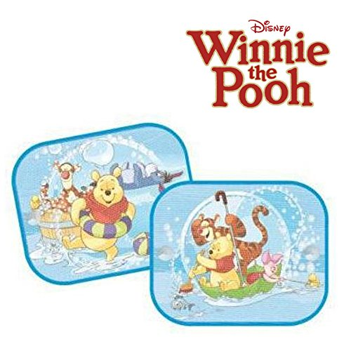 2 x Genuine Disney Winnie the Pooh Sun Shades for Car Window Blinds for Kids Sola
