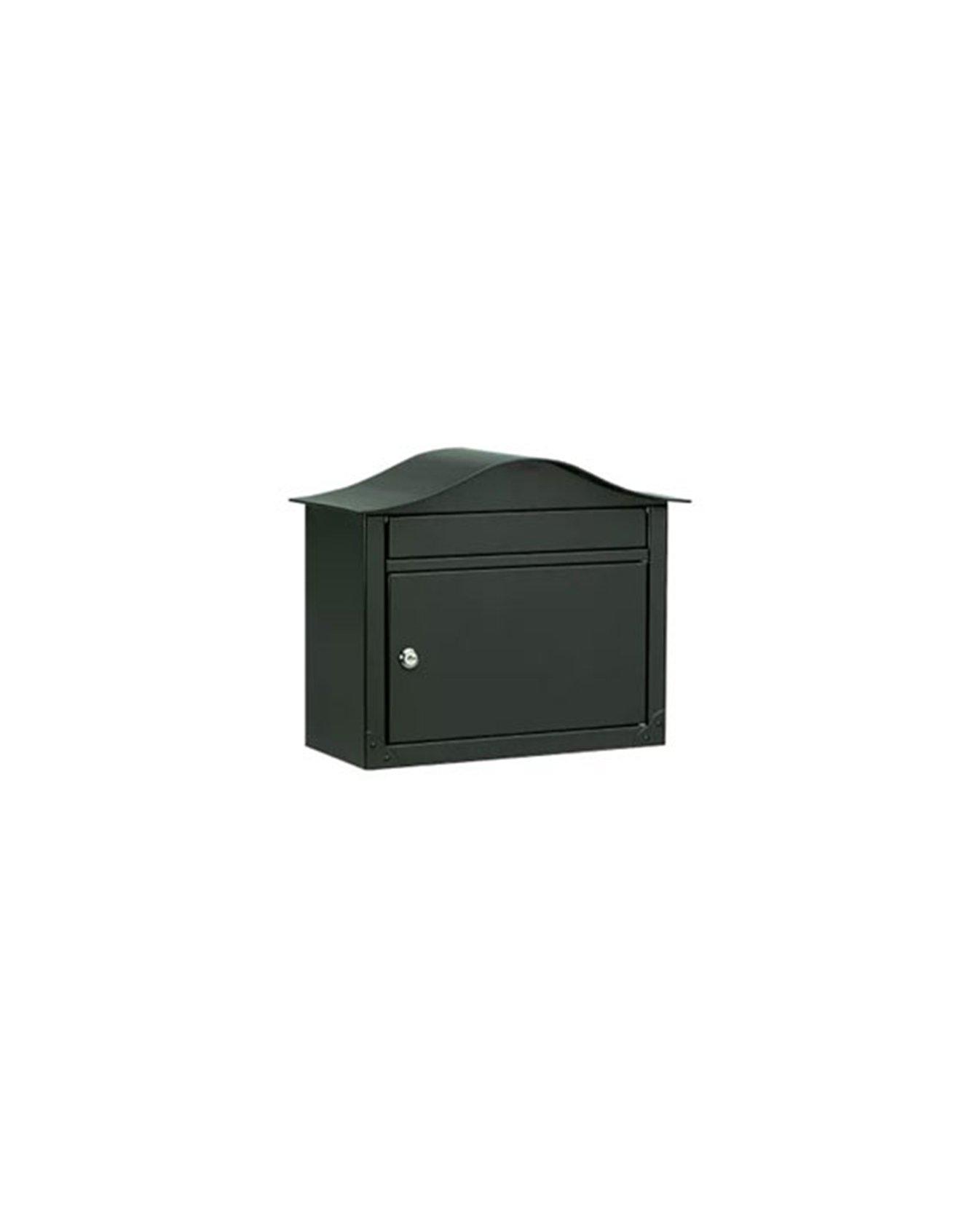 Locking Wall Mount Mailbox - Black