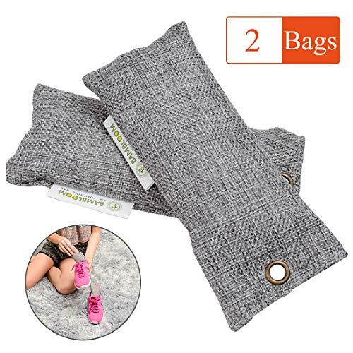 Bamboo Charcoal Odor Eliminator Absorber - Air Purifying Bags Room | Basement | Bathroom | Gym, Car Freshener | Natural & Eco Friendly, 50Gx2