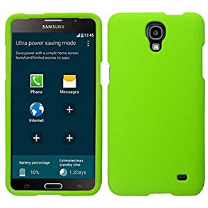 Zizo Samsung Galaxy Mega 2 Rubberized Hard Snap-On Cover - Retail Packaging - Neon Green