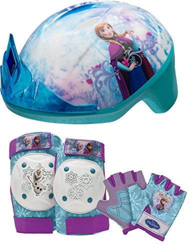 Bell Frozen Toddler Helmets and Protective Gear (Protects Elbows, Knees, and and Hands) (Frozen Knee And Elbow Pads)