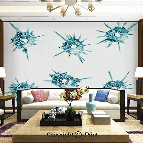 (Wallpaper Nature Poster Art Photo Decor Wall Mural for Living Room,Alluring Charming Gems Crystal Like Diamonds with Spike Like Lights Image,Home Decor - 100x144 inches )