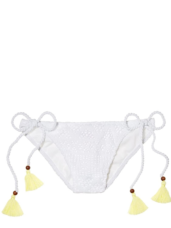 Victoria 's Secret the Teeny Bikini Bottomホワイトレースミディアム B06WD8F469 Medium
