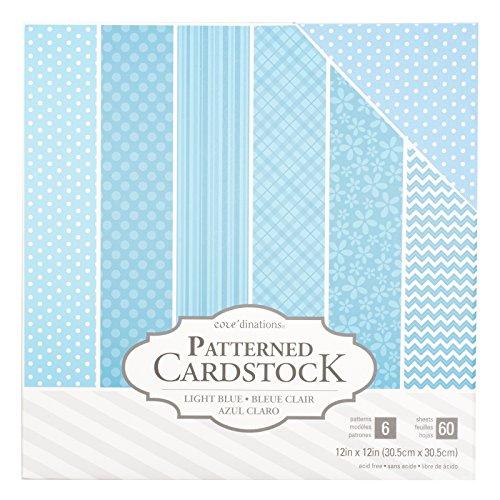 light blue cardstock - 5
