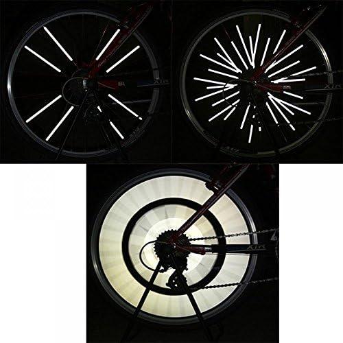 48pcs colorful Bike Bicycle Spoke Wheel Reflector Reflective MTB Cycle Clip Tube