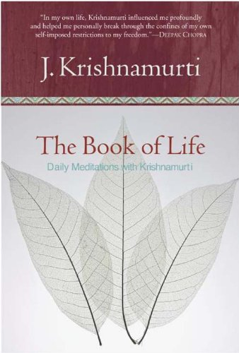 The Book of Life: Daily Meditations with Krishnamurti cover