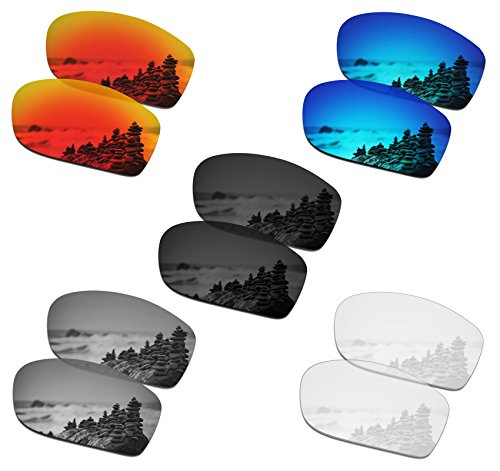 SmartVLT Set of 5 Men's Replacement Lenses for Oakley Fives Squared Sunglass Combo Pack S01 (Oakley Five Replacement Lens)