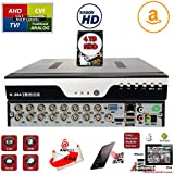 Evertech 16Ch DVR with 4TB Hard Drive H.264 High-Definition Hybrid TVI AHD CVI Analog Home Office Standalone CCTV Security Digital Video Recorder w/4TB HDD Installed and Pre-Configured