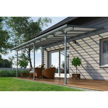 Amazon Com Palram Feria 10 Ft X 18 Ft Patio Cover Gray Garden