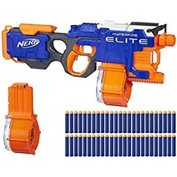 Highly modified nerf hyperfire elite- shoots 600 rounds per minute modded  auto
