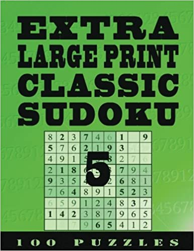 Extra Large Print Classic Sudoku 5 100 Very Easy To See Easy Level