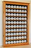 Walnut Wall Shadow Box To Hold 49 Souvenir Golf Balls Great Golf Gift
