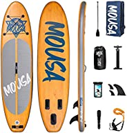 Mousa Inflatable Paddle Board, 11' x 33'' x 6'' Dual Player Paddle Boards for Adults, Floa