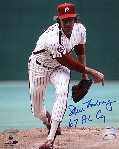 Jim Lonborg Signed Autographed Philadelphia Phillies 8x10 Photo Inscribed 67 AL Cy TRISTAR COA (Hand Phillies Philadelphia Signed)