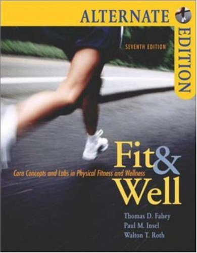 Fit & Well Alternate with Online Learning Center Bind-in Card and Daily Fitness and Nutrition Journal