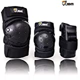 JBM Children / Kids Protective Gear Sports Safety Pad Safe guard Inline Roller Skating Biking Knee Elbow Wrist Support Pad for bicycling and roller skating