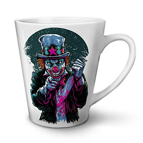 Clow Evil Scary Horror White Ceramic Latte Mug 12 oz | Wellcoda