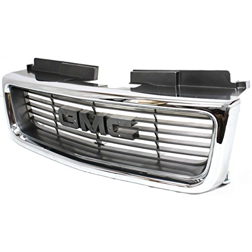 (Diften 102-A5922-X01 - New Grille Assembly Grill Chrome shell gray insert GMC Jimmy GM1200422 19130793)