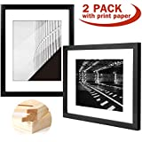 Yome 11x14 Black Picture Frames, Collage Photo Frames Set Made of Solid Wood and Glass