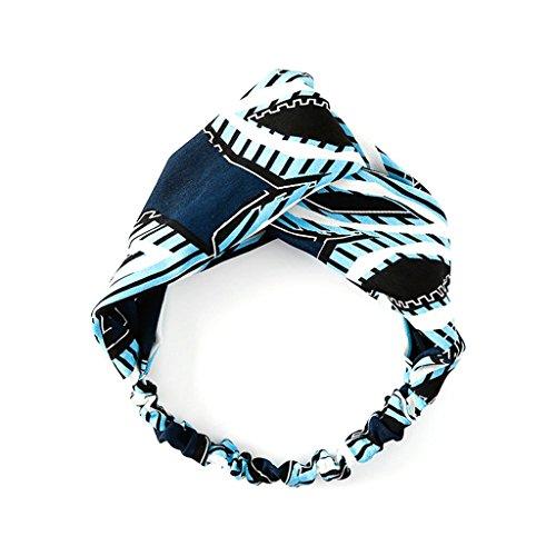 Peach & Pepper 3-Pack Women Fashion Geometric Twist Headband Head Wrap Hair Band Tie, Geometric/Pineapple Printed