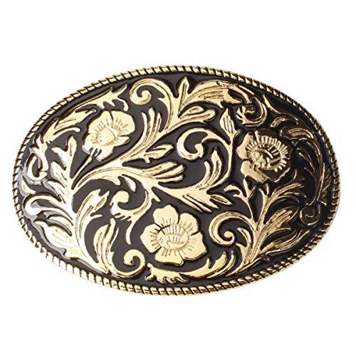 Karaqusa Flower Tattoo Belt Buckle Western Cowboy Native American (TT-02-GD)