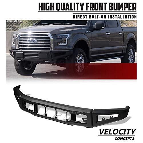 Velocity Concepts HD Steel Modular Front Bumper Raptor Style Full Width Black 2015-2017 for Ford F150
