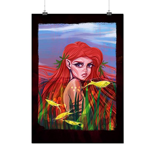 Mermaid Fish Sea Ocean Matte/Glossy Poster A3 (42cm x 30cm) | - Sunglasses Gisele Bundchen