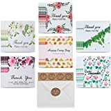Thank You Cards,36 Floral Thank You Notes Cardstock Gift Cards Greeting card for your Wedding,Birthday,Baby Shower,Graduation,Blank Inside 4 x 6 inches