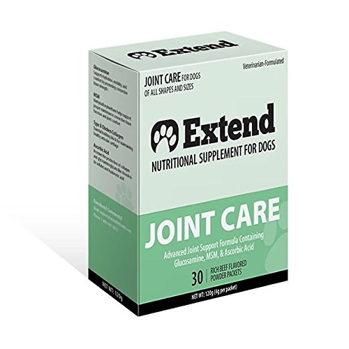 Extend – Joint Care For Dogs – 1 Month Supply – Glucosamine for Dogs with MSM & Ascorbic Acid – Pure Grade Ingredients – 100%